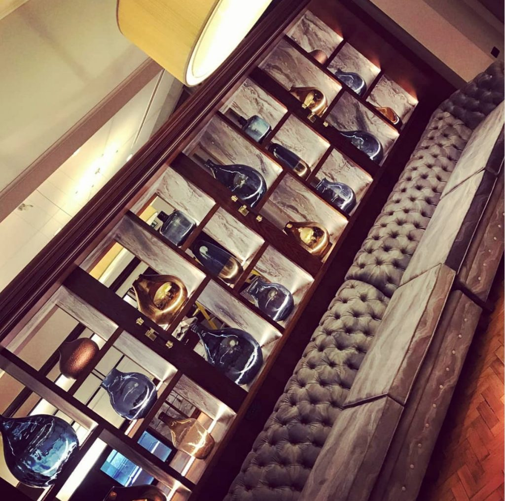 THE GRAND HOTEL | YORK - TL Contracts provided glassware for shelving and artwork in bespoke metal frames.