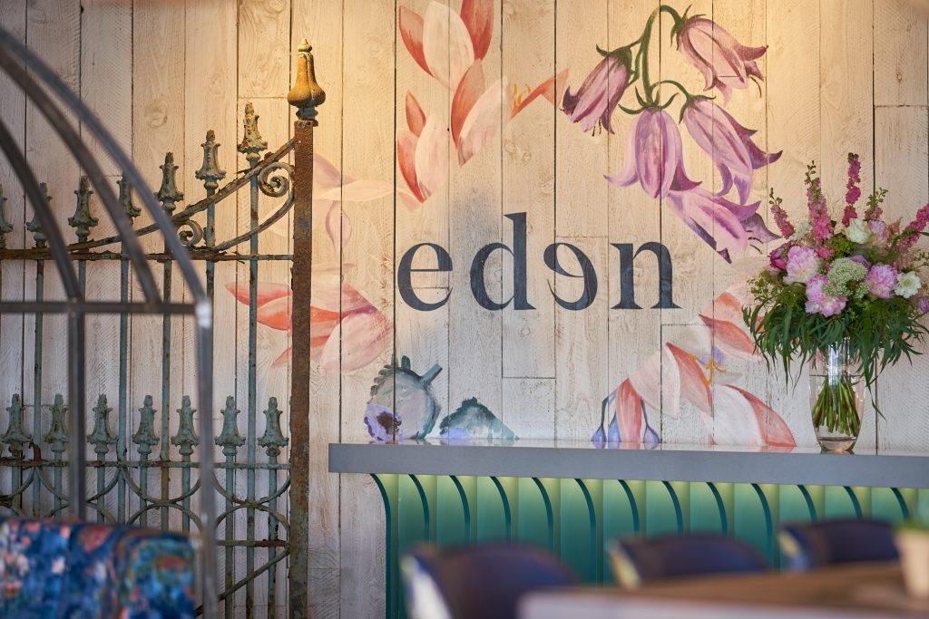 EDEN | PORTSMOUTH - TL Contracts designed and supplied over 150sqm of bespoke wallpaper, curated hundreds of botanical items, painted murals to the walls and supplied vintage gates and other antique decoration for an authentic design.