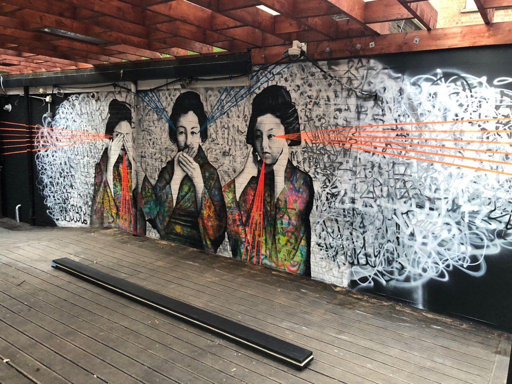 Bespoke Mural art for Mr Miyagi Nightclub | Portsmouth